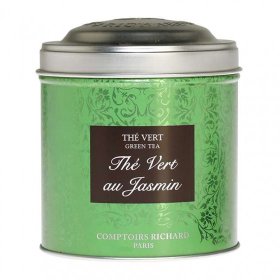 Thé vert aromatisé au Jasmin boîte métal vrac 100g