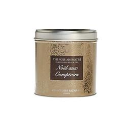 Thé noir Noël aux Comptoirs boîte métal or 100g