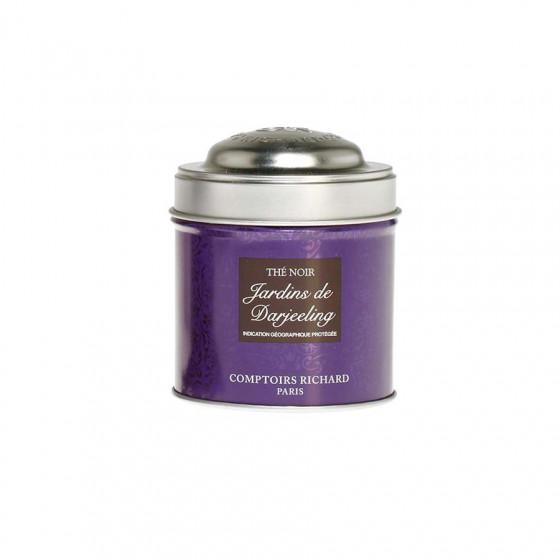 Thé noir aromatisé Jardins de Darjeeling boîte métal vrac 30g