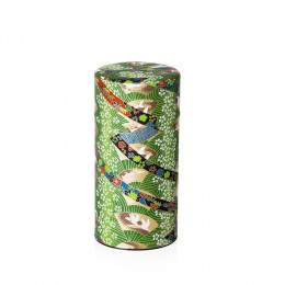 Boîte verte de conservation double couvercle à thé traditionnelle