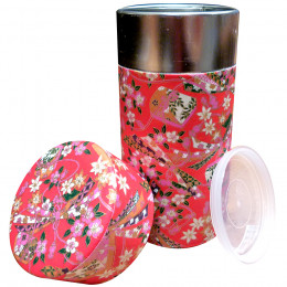Boîte rouge de conservation double couvercle à thé traditionnelle