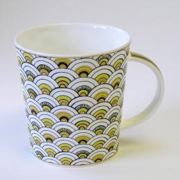 Mug Dunoon porcelaine fine Samarkand motif citron 35cl