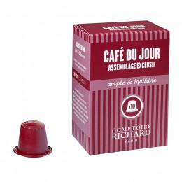 Étui de 10 Capsules compatibles café du jour