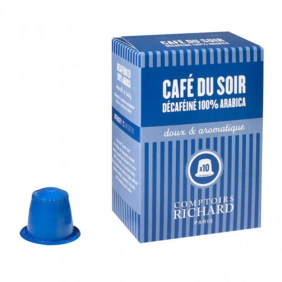 Étui de 10 Capsules compatibles café Décaféiné 100% arabica