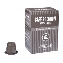 Étui de 10 Capsules compatibles café Premium 100% arabica