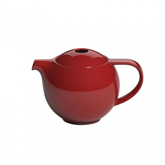 Théière ronde en porcelaine rouge Loveramics 0.6L