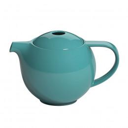 Théière ronde porcelaine Loveramics bleue canard 0.9L