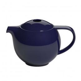 Théière ronde porcelaine Loveramics bleu marine 0.9L