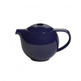 Théière ronde porcelaine Loveramics bleu marine 0.6L