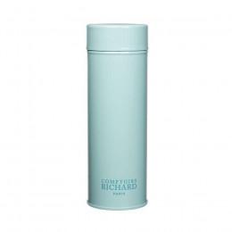 Boîte à thé de conservation avec double couvercle laquée bleu ciel