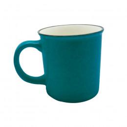 Grand Mug vintage bleu canard 70cl