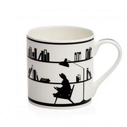 Mug motif lapin bibliothèque 30cl