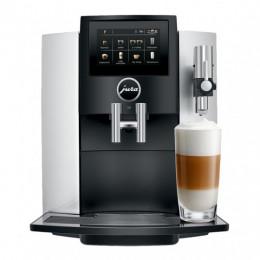 Robot café JURA S8 Silver et 5 paquets de 250g de café en grains et 4 verres double parois offerts