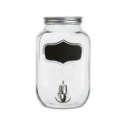 Jarre en verre ardoise 4.5L