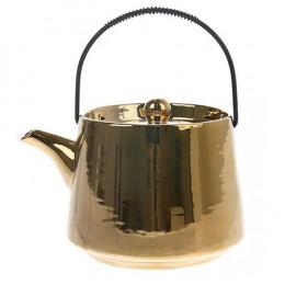 Théière céramique dorée 70cl