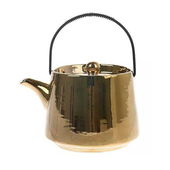 Théière céramique dorée 0,7L