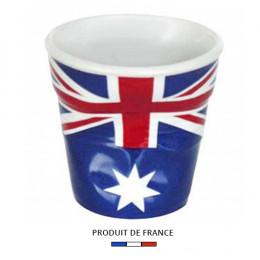 Gobelet froissé expresso drapeau Australie 8cl