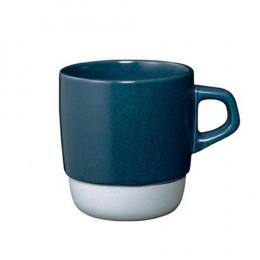 Mug empilable bleu en porcelaine 32cl
