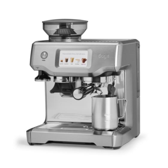 Robot à café Sage Barista Touch SES880 et 3 paquets de 250g de café en grains et 2 verres expresso Cafés Richard 8cl