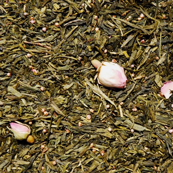 Thé vert aromatisé Thé des Amours vrac